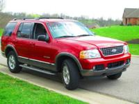 Two-owner, 2004 Ford Explorer XLT in Burgundy Metallic