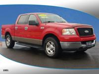 New Price! This 2004 Ford F-150 XLT in Bright Red