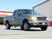 Gold 2004 Ford F-150 XLT Heritage 4WD 4-Speed Automatic