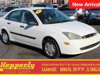 Clean CARFAX. This 2004 Ford Focus LX in Cloud 9 White