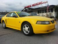 Drive away with this beautiful 2004 Ford Mustang. Down