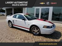2004 Ford Mustang V6 in Oxford White Clearcoat, Non