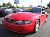 2004 FORD MUSTANG, V6/AUTO, PL, PW, PMIRRORS, ALLOY