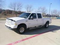 2004 f250 CREW CAB DISEL 4X4.WHITE ON BLACK LEATHER