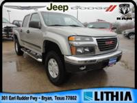2004 GMC Canyon 4x4 Crew Cab 5 ft. box 126 in. WB SLE
