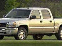 Options:  2004 Gmc Sierra 1500 Crew Cab White/ V8 5.3L