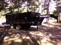 2004 16 FOOT GOOSENECK DUMP TRAILER 20,000 POUND RATING