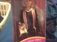 I have a 2004 graduation Barbie. It is still in the