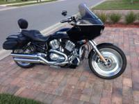 2004 Harley V-Rod with Road Glide fairing, floorboards