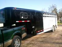 2004 Gooseneck Hart Aluminum Stock/Horse Combo. 20ft