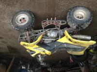 Has a lot of new parts front tires nd rims, chain and