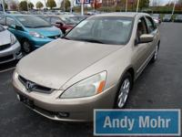 Clean CARFAX 2004 Honda Accord EX-L in Desert Mist