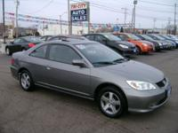 2004 HONDA CIVIC EX 1.7 4CYL! 2DR! 5SPEED! ONE OWNER!