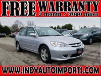 CARFAX One-Owner. Clean CARFAX. Silver 2004 Honda Civic