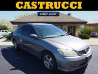 Recent Arrival!   Grey 2004 Honda Civic EX FWD 5-Speed