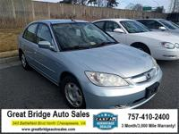 2004 Honda Civic CARS HAVE A 150 POINT INSP, OIL