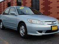 Snatch a steal on this 2004 Honda Civic Sedan with CVT