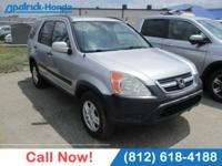 CARFAX One-Owner. Silver 2004 Honda CR-V EX AWD 4-Speed