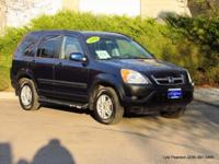 2004 CR-V 4-wheel-drive utility in blue pearl metallic