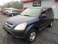 2004 HONDA CR-V LX BLUE ON GRAY AUTOMATIC WITH ONLY