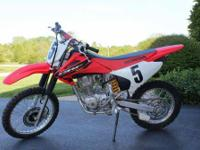 Im selling a used 2004 Honda CRF 150F motorcycle. I