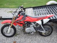 I'm offering a 2004 Honda CRF50. Bike starts easy, it