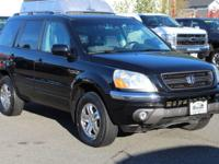 Black 2004 Honda Pilot EX-L 4WD 5-Speed Automatic with