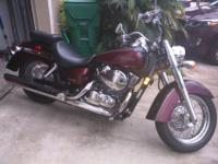 Beautiful Honda Shadow for sale. This motor cycle has