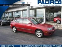 SHARP 2004 HYUNDAI ELANTRA GT WITH LOW MILES. THIS RED