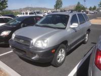 Clean CARFAX. 2004 Hyundai Santa Fe Silver FWD 5-Speed