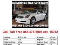 2004 Infiniti G35 Base 2dr Coupe Coupe 2 Doors White