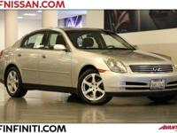 Options:  2004 Infiniti G35 4D Sedan|6 Speakers|Am/Fm