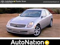 This 2004 Infiniti G35 Sedan w/Leather is offered to