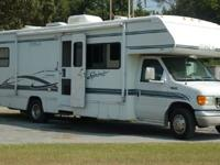 This Class C motorhome is 32 long and has 27,957 miles.