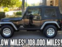 2004 Jeep Wrangler 2dr X !! LOW Miles! 108,000! Tough