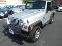 TAKE A LOOK AT THIS 2004 WRANGLER X! 5 SPEED MANUAL,