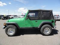 Options Included: Folding Soft Top W/Plastic Windows,