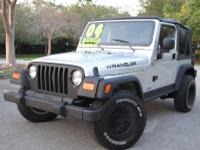 OPTIONS: Year : 2004 Make : Jeep Model : Wrangler Trim