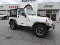 This WHITE 2004 Jeep Wrangler X might be just the SUV