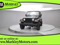 Our 2004 Jeep Wrangler X 4X4 shown in Black can't be