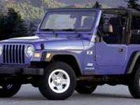 Wrangler X, 2D Sport Utility, PowerTech 4.0L I6, 4WD,