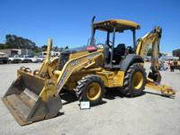 2004 John Deere 410G 4X4 Backhoe Loader 4 in 1 bucket,
