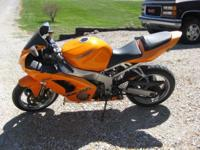 This is a Ninja ZX6R, with a 636 engine, new tires and