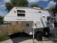 2004 Keystone Travel Lite 800SBX Truck Camper Bought in