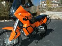 fantastic KTM 950 Adventure dual purpose motorcycle.