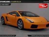 This 2004 Lamborghini Gallardo 2dr 2dr Coupe features a
