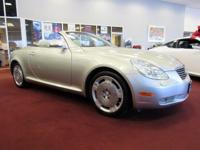 Clean CARFAX. Silver 2004 Lexus SC 430 RWD 5-Speed
