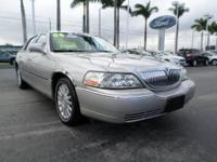 Solid and stately, this 2004 Lincoln Town Car turns