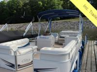 This Manitou pontoon boat is a thing of beauty. From