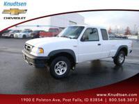 Options:  2004 Mazda B4000 Base|White|Gray W/Cloth Seat